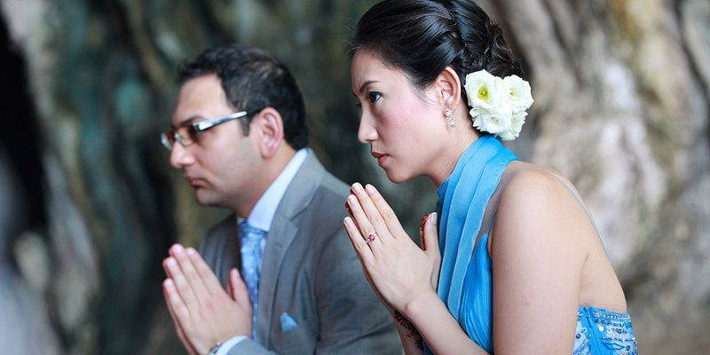Cynthia & Ashid's wedding in Krabi was blessed with fine weather and it was an early start for everyone. The first official ceremony was the traditional Thai blessing by the…