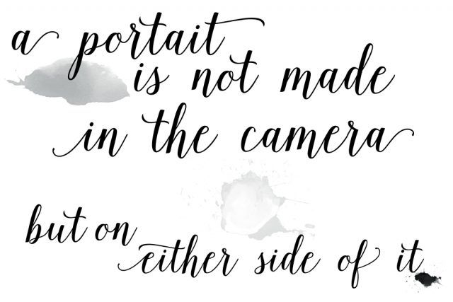 a portrait is not made in the camera