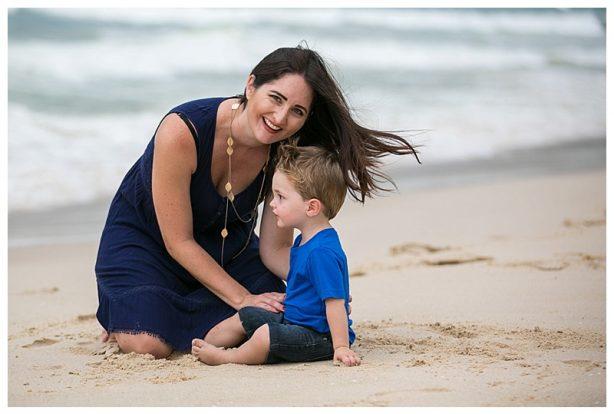 Beach holiday portraits family