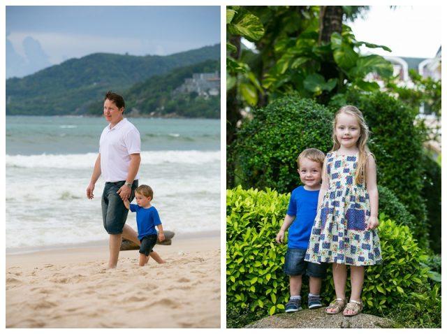 Patong holiday portraits family