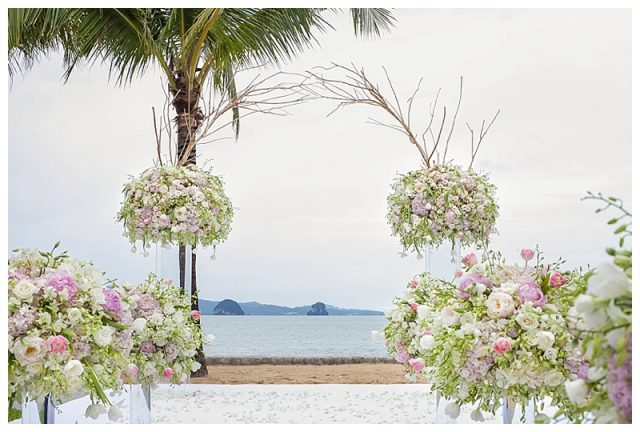 Phuket villa wedding florist