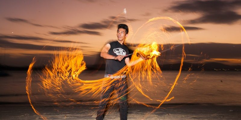 awesome fire show Thailand