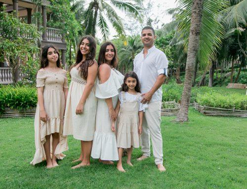 Family photo shoot at Centara Grand