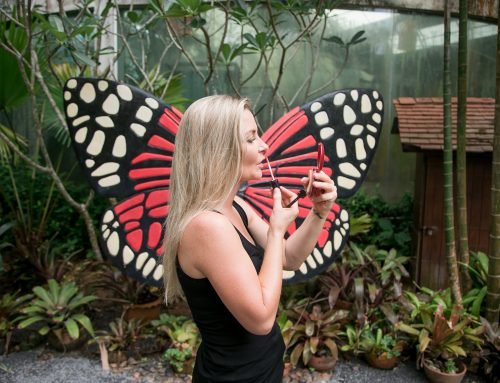 Karen at the botanical gardens in Chalong