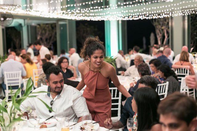 Como wedding reception